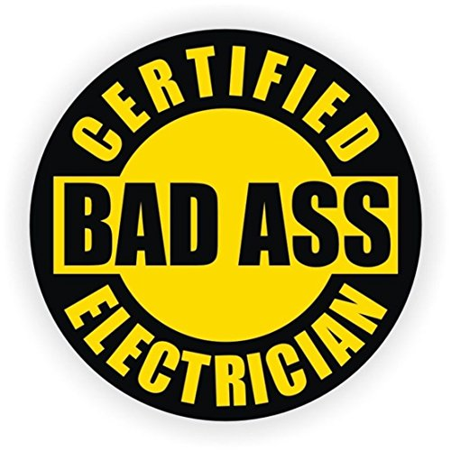 Steeler Shocks - 1-Pcs Unblemished Popular Certified Bad Ass Electrician Vinyl Stickers Signs Shock Safe Work Label Arc Flash Badge Size 2