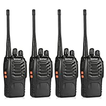 Elephant Xu Two Way Long Range Rechargeable Walkie Talkies Radio for all ages (Pack of 4)