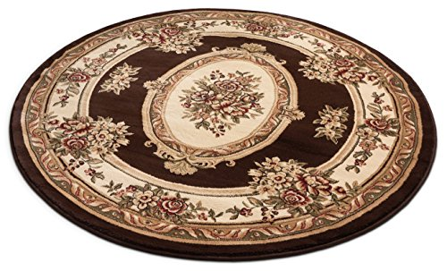 (Well Woven 36370 Timeless Le Petit Palais Traditional Medallion Brown Area Rug 5'3