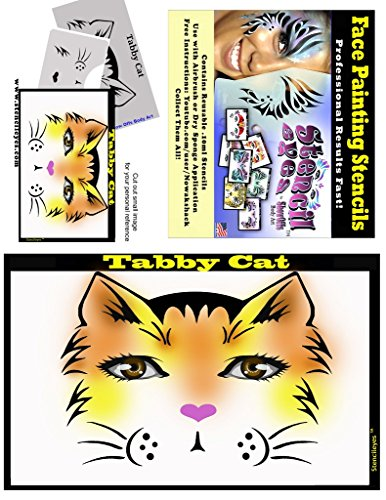 Face Painting Stencil - StencilEyes Tabby Cat