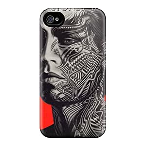 Anti-Scratch Hard Cell-phone Cases For Iphone 4/4s (Svz12657xnfH) Customized Lifelike Rolling Stones Pattern
