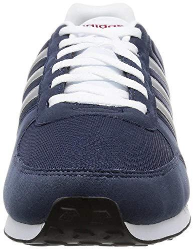 Hommes Racer City Baskets Pour Argent Blanc Neo Adidas Bleu SEgqFXS