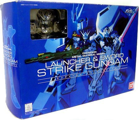 (Gundam Seed Chogokin Metal Material Model Strike Gundam (Launcher and Sword))