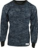 navy digital camo - Army Universe Midnite Navy Blue Digital Camouflage Long Sleeve Military T-Shirt with Pin - Size Large (41