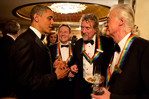 President Barack Obama Robert Plant Jimmy Page XL Poster Art