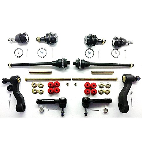 PartsW 12 Piece Kit Sway Bar Links, Idler & Pitman Arm, Upper & Lower Ball Joints and Inner & Outer Tie Rod Ends 4WD Only