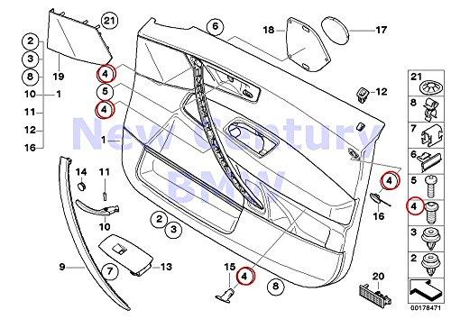 8 X BMW Genuine Fillister Head Screw 525i 525xi 530i 530xi 545i 550i M5 528i 528xi 535i 535xi 550i 530xi 535xi X3 2.5i X3 3.0i X3 3.0i X3 3.0si 325xi 328i 328xi 328i 328xi Drophead Drophead Coupé Coup