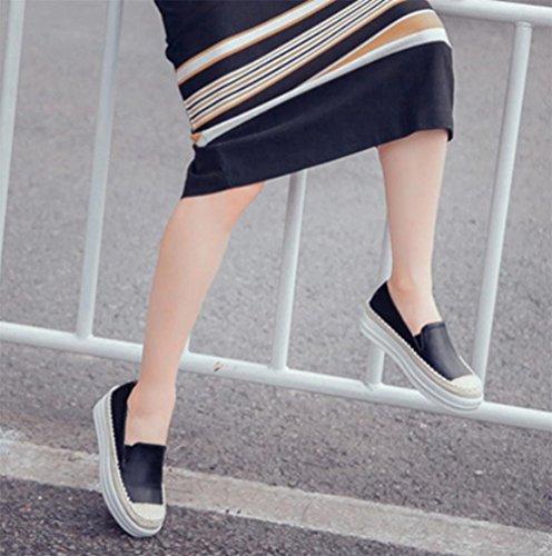 zapatos de gruesos primavera de UK6 del US8 zapatos zapatos otoño zapatos de CN40 la EU40 la escoge elevador mujeres 5 ocasionales Sra señora corteza los mollete y 5 planos qTwzgc5a