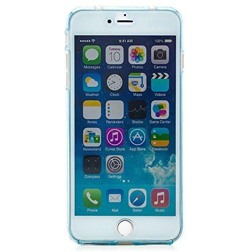 Zanasta Designs Apple iPhone SE / 5 / 5S Funda Cubierta Case Cover Silicona Flexible Soft Shell Protección para las partes delantera y trasera, Transparente Azul