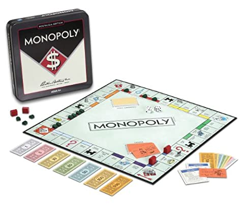 Winning Solutions Monopoly Nostalgia Tin Board Games - Played Monopoly