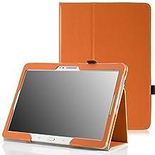 MoKo Samsung Galaxy Tab S 10.5 Case - Slim Folding Cover Case for Samsung Galaxy Tab S 10.5 Inch Android Tablet, ORANGE (With Smart Cover Auto Wake / Sleep)
