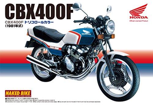 Download AOSHIMA 1/12 Motorcycle | Model Building Kits | No.28 HONDA CBX400F Tricolour [ Japanese Import ]