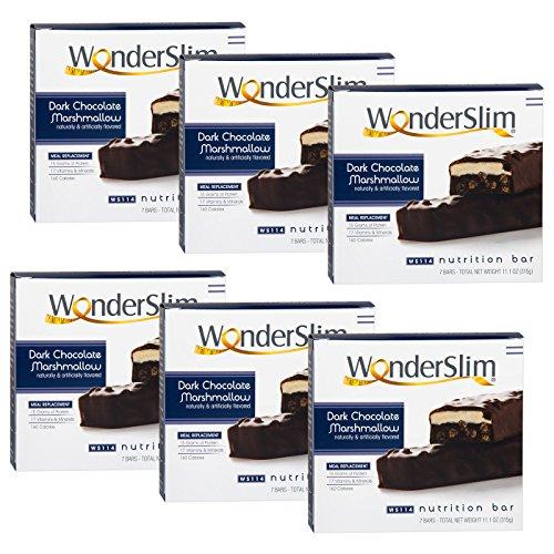 WonderSlim High Protein Meal Replacement Bar - High Fiber, Kosher, Choco Marshmallow - 6 Box Value-Pack (Save 10%) by WonderSlim (Image #2)