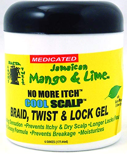 Mango Twist - Jamaican Mango & Lime No More Itch Cool Scalp Braid Twist & Lock Gel, 6 Ounce