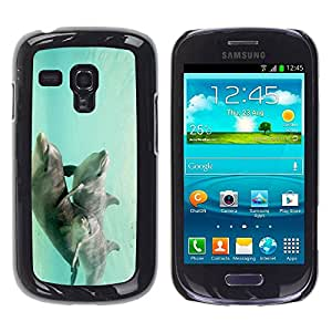 Paccase / SLIM PC / Aliminium Casa Carcasa Funda Case Cover para - Teal Underwater Animals Couple - Samsung Galaxy S3 MINI NOT REGULAR! I8190 I8190N