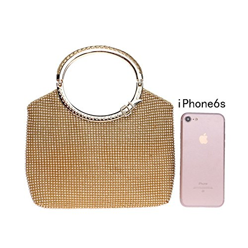 Handbag Gold Purse For Clubs Glitter Ladies Evening Women Party Diamante Bridal Bag Prom Shoulder Wedding Clutch Gift Bag wI4qSSHR