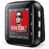 RUIZU MP3プレーヤー 8GB内蔵 128GB 拡張可能 合金製 音楽プレーヤー HIFI 高音質 ミュージックプレーヤー FM ラジオ クリップ付き ボイスレコーダー 大画面 ミニサイズ X21(8GB ブラック)