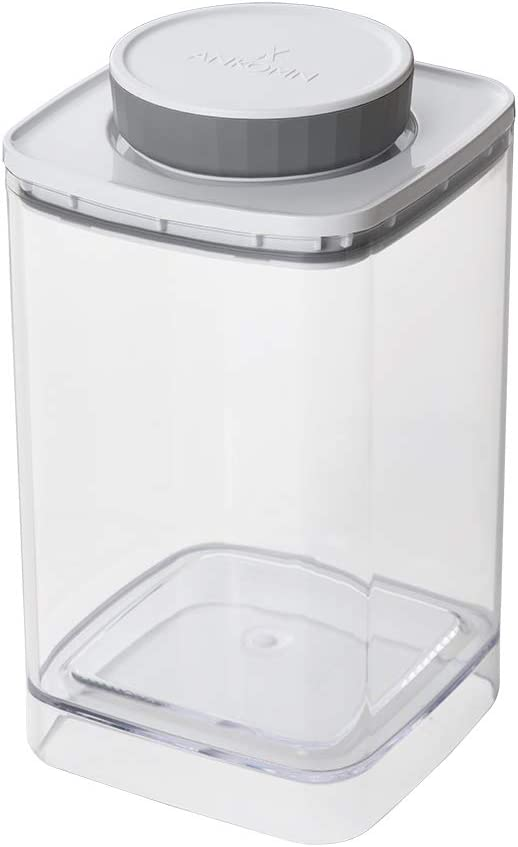 Everlock Pop&Lock Airtight Food Storage Containers with Lids for Organizing Pantry – Canisters Sets for the Kitchen Counter – Coffee, Flour and Sugar Containers or Candy Jars (Clear, 1.2L)