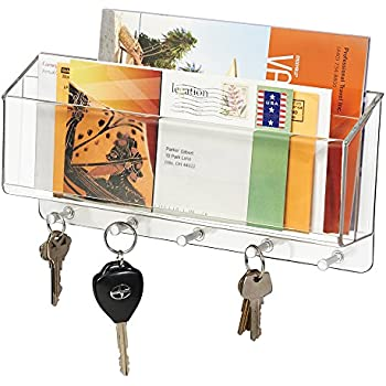 Exceptional MDesign Mail, Letter Holder, Key Rack Organizer For Entryway, Kitchen    Wall Mount