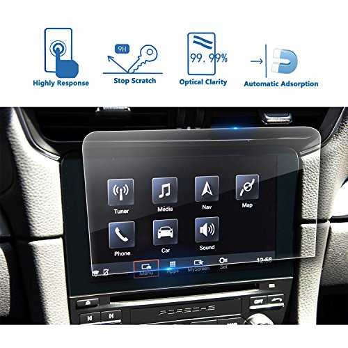 Porsche 911 Center (2017-2018 Porsche Cayman/Boxster/911 7-Inch Car Navigation Screen Protector, LFOTPP Clear TEMPERED GLASS Infotainment Display In-Dash Center Touch Screen Protector)