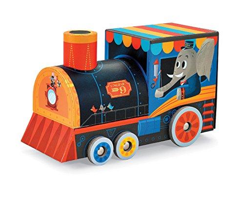 Crocodile Creek - Locomotive Train - 24-piece Puzzle & Vehicle Play Set