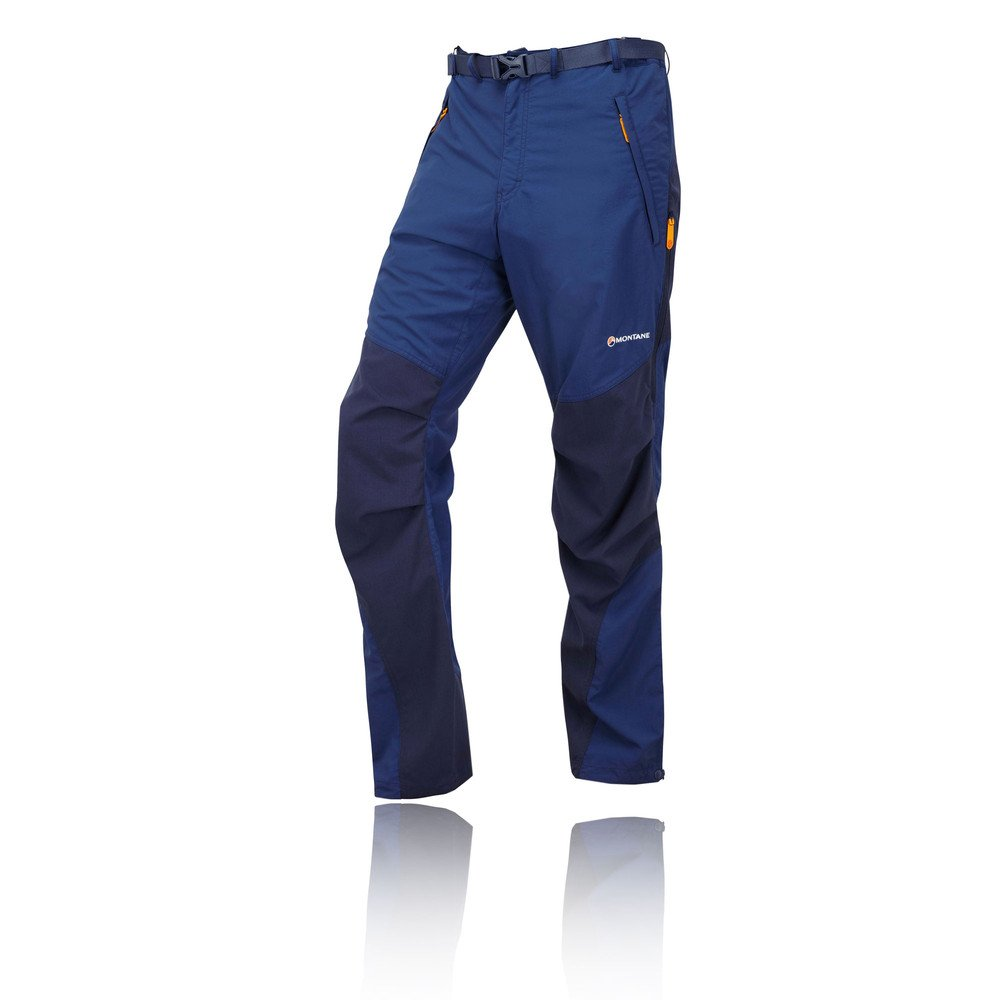 TALLA S. MONTANE MENS TERRA PANTS REGULAR LEG BALTIC BLUE (SMALL)