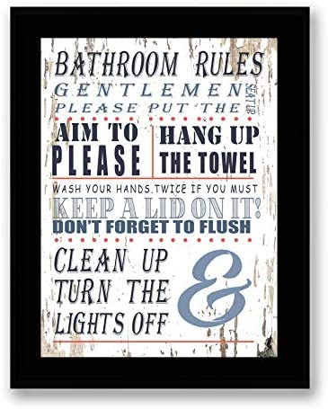 Bathroom Rules Framed Signs Canvas product image