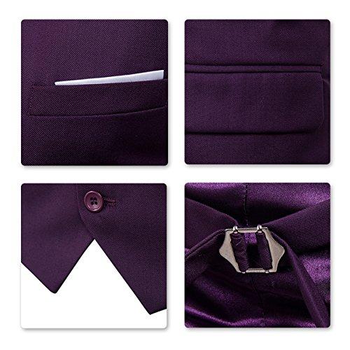 Mariage D'affaire Gilet Pantalon Blazer Homme Allthemen Slim 1 Costume Fit Violet 6c5wYwqxa