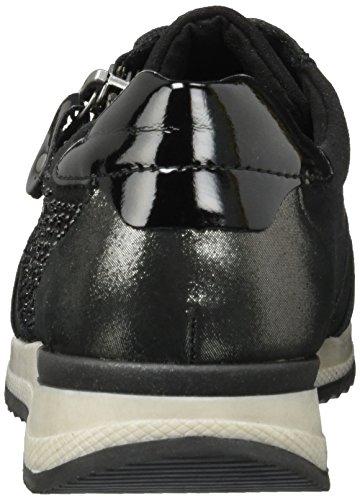 Sneakers Noir Eu altsilber 42 Femme antracite asche R7008 Steel Remonte 02 Basses schwarz 37 schwarz wvq5ARxS