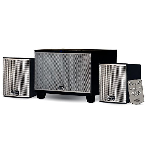 Theater Solutions TS220 Powered Bluetooth 2.1 Speaker System with FM Tuner Home Multimedia Computer Gaming by Theater Solutions