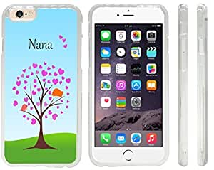 Rikki KnightTM Nana Name on Tree with Heart Design iPhone 6 Case Cover (Clear Rubber with front bumper protection) for Apple iPhone 6 by icecream design