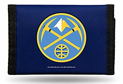 7f7ac83454f Amazon.com   Rico NBA Denver Nuggets Nylon Trifold Wallet   Sports ...
