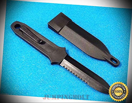 Neck Knife M4259 non-metal polycarbonate double edge dagger blade - Knife for Bushcraft EMT EDC Camping Hunting -