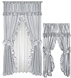 Shower Curtains with Matching Window Curtains Home Fashions Grey Double Swag Shower and Window Curtain Set with liner