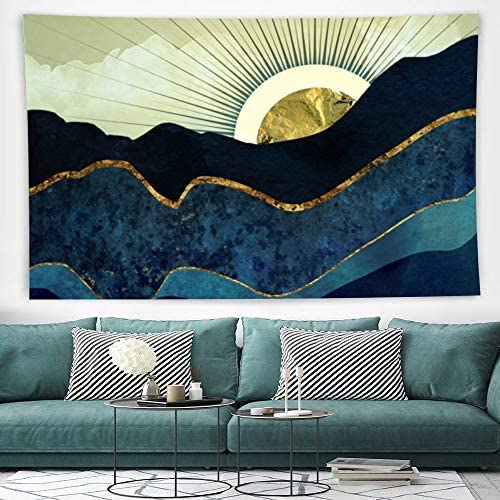 GOADK Tapestry Ethnic Decorative Mountain Tapestry,Soft and Wrinkle-Resistant,Comfortable and Durable,Can Be Used in Bedroom,Dormitory,Living Room,Picnic Cloth 130x150cm 51.2×59.1 inches Mountain