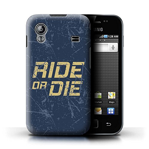 - STUFF4 Phone Case / Cover for Samsung Galaxy Ace / Ride or Die Design / Street Car Racing Collection