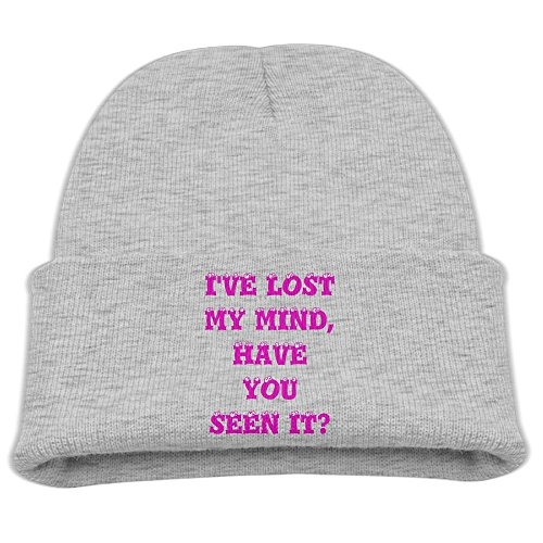 Msiiks I've Lost My Mind, Have You SEEN IT Children's Knit Hat, Warm and Dirty Bones Hat.