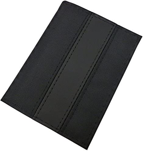 Porta carte d'identità e carte di credito con 6 scomparti in diversi colori (Nero/Nero)
