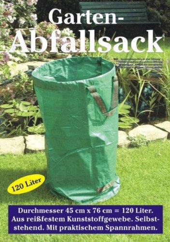 Garten-Abfallsack, 120 Liter, reißfest, selbststehend und beschichtet