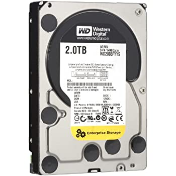 WD RE4 2 TB Enterprise Hard Drive: 3.5 Inch, 7200 RPM, SATA II, 64 MB Cache (WD2003FYYS) (Old Model)