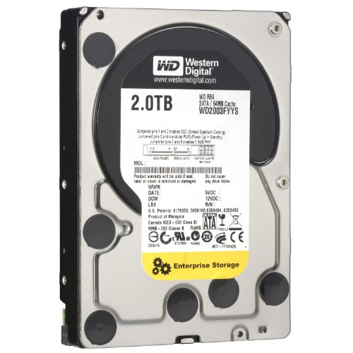 WD RE4 2 TB Enterprise Hard Drive: 3.5 Inch, 7200 RPM, SATA II, 64 MB Cache (WD2003FYYS) (Old Model) by Western Digital
