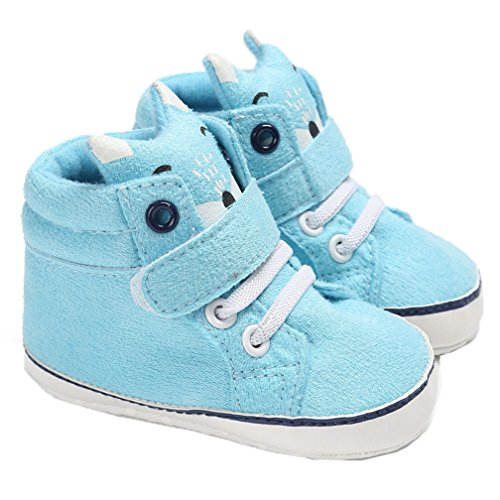 CoKate Infant Toddler Baby Soft Sole Lace Up High-top Suede Warm Sneakers Snow Boots (4.7 inch/6-12 Months, - S200 Leather