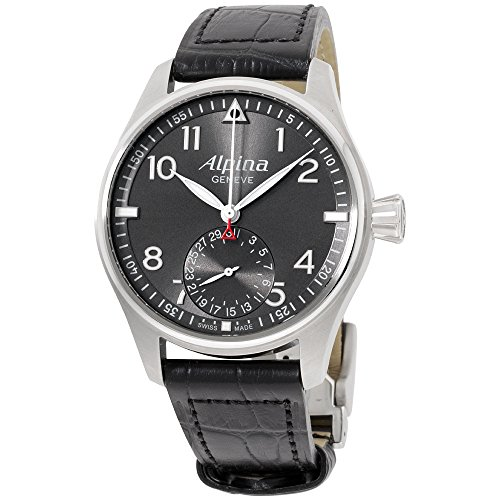 Alpina Men's AL710G4S6 Smartime Pilot Analog Display Swiss Automatic Black Watch