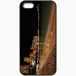 Protective Case Back Cover For iPhone 5 5S Case Night Coast Beach Romance Black