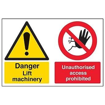 Advertencia de seguridad «Danger Lift Machinery Access