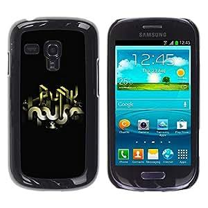 Be Good Phone Accessory // Dura Cáscara cubierta Protectora Caso Carcasa Funda de Protección para Samsung Galaxy S3 MINI NOT REGULAR! I8190 I8190N // Abstract