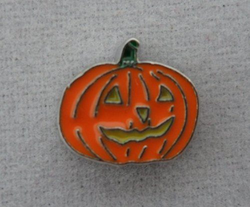Floating Charm Scary Pumpkin Jack O Lantern]()