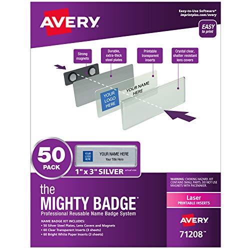Silver Badge Insert - The Mighty Badge by Avery, 1