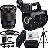 Sony PXW-FS7 4K XDCAM Camera with Super 35 CMOS Sensor + Sony 16-35mm Vario-Tessar T FE F4 ZA OSS E-Mount Lens + 14PC Bundle. Includes 2 Extended Life Replacement Batteries + 3 Piece Filter Kit (UV-CPL-FLD) + Deluxe Camcorder Case + LED Video Light + 72''