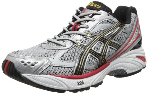 ASICS Men's Gel Foundation 8 Running Shoe,Lightning/Black/True Red,7 M US